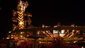 karnaval : Carnival rides in the summertime