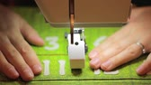 konular : close up shot of a sewing machine and advent calendar Stok Video