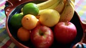 runners : fruit on the table Stock Footage