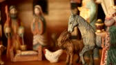 cow birth : Nativity Scene Panning Shot Stock Footage