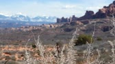 sal : Viewpoint in the beautiful Arches National Park Utah