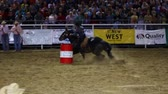 corajoso : Professional cowgirls barrel racing in a national PRCA rodeo