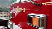 quarto : A fire engine parked on the outskirts of the Freedom Festival in Provo Utah Stock Footage