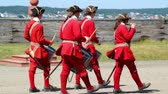 vojsko : The soldiers barracks at the French Fort and 18th Century Colonial Town at Louisbourg Nova Scotia Canadian National Park.