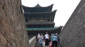 street wall : Alte Gebäude in Pingyao China Stock Footage