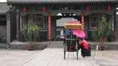 street wall : Tourist in antiken Stadt Pingyao China