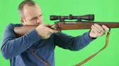detetive : A green screen shot of a shooter with a 270 rifle