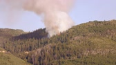 walka : A large mountain wildfire burning