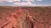 burr : Aerial shot of amazing red desert southern Utah canyon Stock Footage