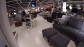 inexpensive : High camera shot traveling through IKEA Stock Footage