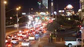 pecado : Traffic in las vegas strip at night in Nevada