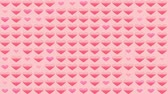 símbolo : Multiple pink heart movements, animation