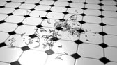 champanhe : Shattering Wine Glass 3D Stock Footage