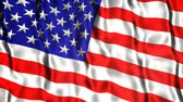 usa flagge : Seidenweichen US-Flagge (Video Loop) Stock Footage