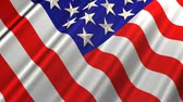 американский флаг : American Flag in Wind (Loop) Great for newscast backgrounds, just repeat it endlessly. A seamless looping metallic like American Flag waving in the wind.  Стоковые видеозаписи