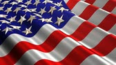 quarto : American Flag Waving (Loop)A seamless looping metallic like American Flag waving in the wind. 3D like stars can be seen with reflections Stock Footage
