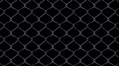 dokulu : Chain link Wire fence 3D rendering with perfect tiling with movement from right to left. Use Alpha channel for compositing on top of any video as a layer or use as is on black. Stok Video