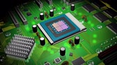 technik : CPU und Board Computer 3D-Animation (HD) Videos