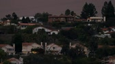 konak : Large Homes Timelapse Night (HD). Timelapse of large homes at night, seen from far away with a telephoto lens.