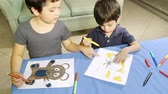 игривый : Boys Helping with Coloring Drawing (HD). Drawings Released.