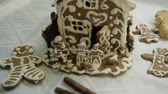 peperkoek : The handmade holiday gingerbread house and cookies.