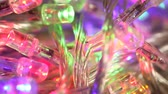 abstruse : Close up of blinking LED bulbs  Stock Footage