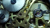 cobre : Close up of an internal clock mechanism Stock Footage