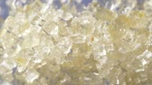 caña de azucar : Macro shot of moving sugar crystals in slow motion Archivo de Video