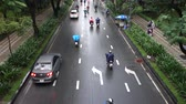 mix : HO CHI MINH, VIETNAM - MARCH 11 2017: Motorcycle traffic in Ho Chi Minh city. Is located in the South of Vietnam, is the countrys largest city, population 8 million Stock Footage