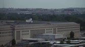 verdediging : Close-up van het Pentagon in Washington DC, USA. Stockvideo