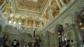 biblioteka : Washington DC, USA - 16 May 2015: The Great Hall interior of the Library of Congress in the US Capitol.