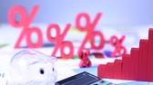 greyhound : Finance concept, Percent, natural colorful tone Stock Footage