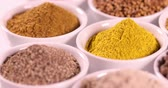 Colorful spices Stock Footage