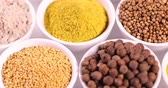 Colorful spices Stockvideo