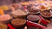 cardamom : Assortment of spices Stock Footage