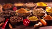pimenta : Spices on wooden bowl background