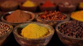 noz moscada : Colorful spices Stock Footage