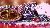 roleta : Casino roulette wheel, Poker Chips Stock Footage