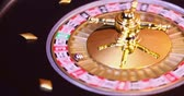 wijnen : Casino-roulette in beweging Stockvideo