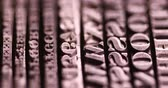 Printers blocks, Typography Stock Footage