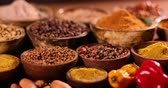 cardamom : Colorful spices Stock Footage