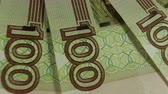 Russian rubles, the money closeup Dostupné videozáznamy