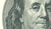 ベンジャミン : 4 Animations close-up of Ben Franklin us hundred dollar bill