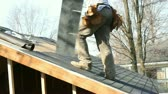stolarz : Construction roof Wideo
