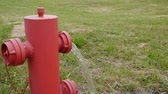 very low : fire hydrant low pressure Stock Footage