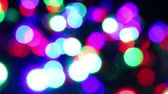 cores vibrantes : christmas light blinker Stock Footage