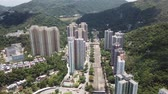 hongkong : Aerial view over Shatin, Shung Mun River, Tai Wai with fine weather.