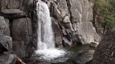 yosemite : Lower Chilnualna Falls Yosemite California Stock Footage