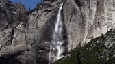 yosemite : Upper Yosemite Falls National Park In California Stock Footage