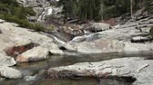 yosemite : Upper Chilnualna Falls And River Yosemite California Stock Footage